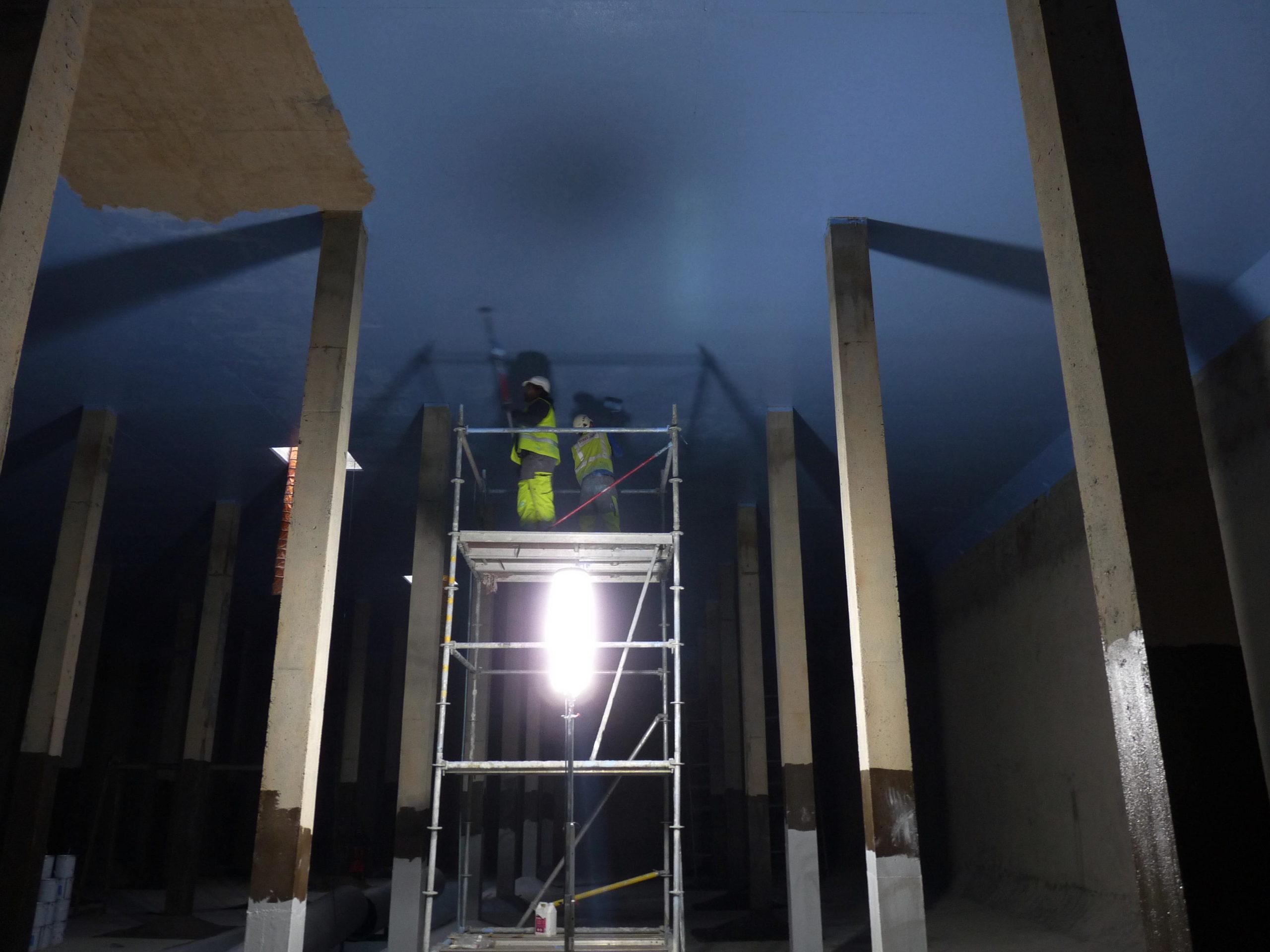 Revêtement d'imperméabilisation dans un château d'eau 15 000M3